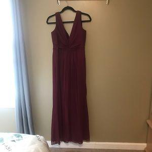 David's Bridal Formal Maxi Bridesmaid Dress plum